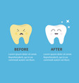 healthy smiling tooth icon sining star crying vector image vector image