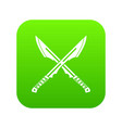 japanese tanto daggersicon digital green vector image vector image