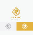 lion entertainment logo design vector image vector image