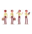 male clerk standing vector image vector image