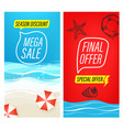 mega sale special offer summer sale banners vector image