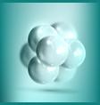 model molecular structure of nanotechnology vector image