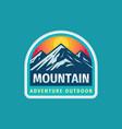 mountain adventure outdoor badge design extreme vector image vector image