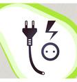 Plug and socket Retro-style emblem icon pictogram vector image vector image
