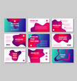 presentation pages collection abstract business vector image vector image