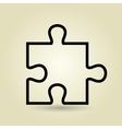 puzzle isolated icon design vector image