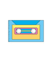 retro cassete to listen kind music vector image vector image