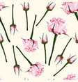 seamless pattern roses branches vector image