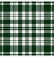 seamless tartan - green and white vector image vector image