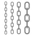 Set of Different Metal Chains vector image vector image