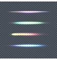 Set of Light Line on Transparent Background