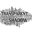 shadow word cloud concept vector image vector image
