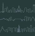 shanghai beijing and hong kong single line vector image