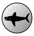 Shark button vector image