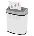 Shredder and text confidental vector image vector image