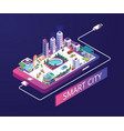 smart city isometric artwork concept vector image