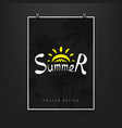 stock night billboard summer vector image