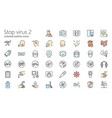 stop virus outline colored iconset part 2 vector image vector image