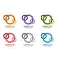technology orbit web rings logo vector image vector image