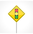 Traffic lights ahead vector image vector image