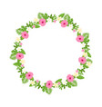 Tropical floral wreath frame isolated