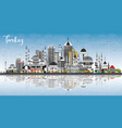 turkey city skyline with gray buildings blue sky vector image