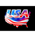 usa american flag on black background vector image