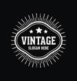 vintage element logo vector image vector image