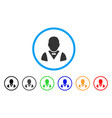 waiter rounded icon vector image
