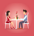 with romantic dinner of couple vector image