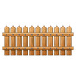 wooden fence isolated symbol icon design vector image