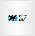 yh letter y and h logo symbol icon vector image