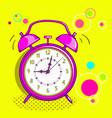alarm clock pop art vector image