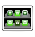 Free call green app icons vector image
