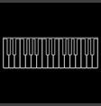piano keys white color path icon vector image