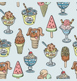 different handdrown sketch dooddle ice cream vector image
