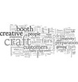 a second career at craft shows vector image vector image