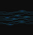 abstract blue circuit light on dark grey design vector image vector image