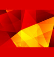 abstract geometric yellow and red color vector image vector image