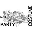 adult costume ideas spice up your bbq with cool vector image vector image