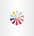 arrows in circle colorful logo design vector image