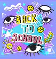 back to school funny doodle vector image vector image