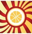 Basketball abstract icon vector image vector image