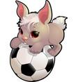 beautiful cute rabbit vector image