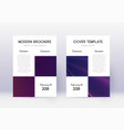 Business cover design template set violet abstrac