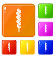 candy stick icons set color vector image vector image