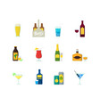 cartoon alcoholic beverages color icons set vector image vector image