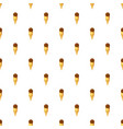 chocolate ice cream in a waffle cone pattern vector image