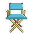 cinema director chair icon cartoon style vector image vector image