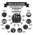 cinema infographic concept simple style vector image vector image